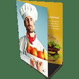 Folder 1 Dobra | 4x4 cores | Formato: 14x20 cm | Papel Couché Brilho 90g/m²