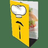 Folder 1 Dobra | 4x4 cores | Formato: 7x10 cm | Papel Couché Brilho 90g/m²