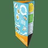 Folder 2 Dobras | 4x4 cores | Formato: 10x14 cm | Papel Couché Brilho 90g/m²