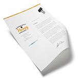 Papel Timbrado | 500 unidades | Formato: 21 x 29,7 cm | Papel Offset 90g/m²
