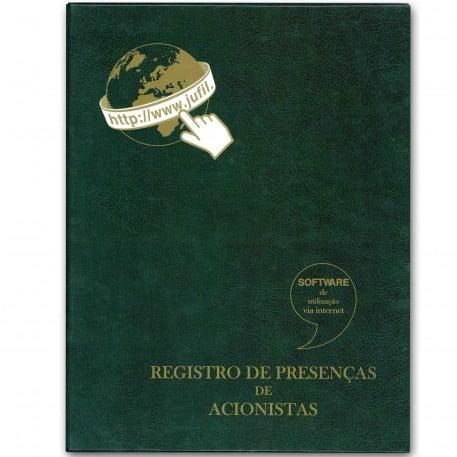 Livro de Registro de Presença dos Acionistas 100 Folhas - Eletrônico