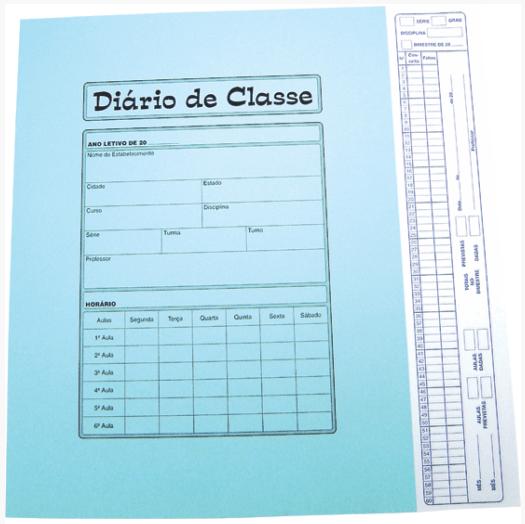 Diário de Classe Bimestral Tamoio Ref. 1731 - 08 folhas Azul c/ 50 unid
