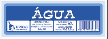 Ficha de Festa Água Tamoio Ref. 1969 - 50X2 C/ 10 Blocos