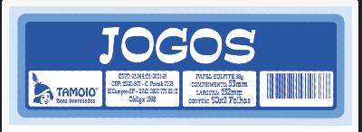 Ficha de Festa Jogos Tamoio Ref. 1972 - 50X2 C/ 10 Blocos