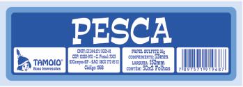Ficha de Festa Pesca Tamoio Ref. 1968 - 50X2 C/ 10 Blocos