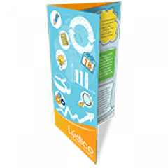 Folder 2 Dobras | 4x4 cores | Formato: 9,3x20 cm | Papel Couché Brilho 90g/m²