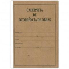 Caderneta Diário de Ocorrências Em Obras 25 X 3 Vias Autocopiativo