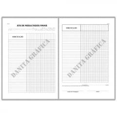 Livro de Registro de Atas Resultados Finais V9