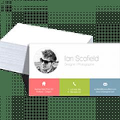 Cartão de Visita | Papel Cartão 300g/m² | Formato: 4,8 x 8,8 cm | 1000 unidades |  Laminação Fosca + Verniz