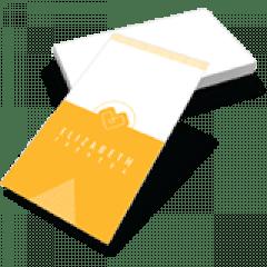Cartão de Visita | Papel Couché 250g/m² | Formato: 4,8x8,8 cm | 1000 unidades |  Verniz Total Brilho Frente