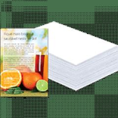 Flyer | 4x0 cores | Formato: 7x 10 cm | Papel Couché Brilho 90g/m²