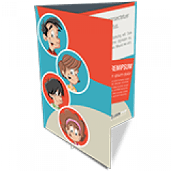 Folder 2 Dobras | 4x4 cores | Formato: 14x20 cm | Papel Couché Brilho 90g/m²