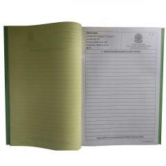 Livro de Ordem - Caderneta Diária de Ocorrências Em Obras 16 X 3 Vias Autocopiativo