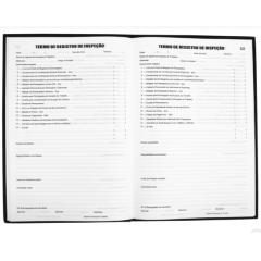 Livro de Registro de Inspeção do Trabalho Tamoio Ref. 2006 50 folhas pct C/ 05 unid