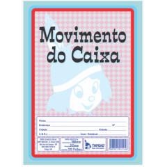 Livro de Registro de Movimento do Caixa Tamoio Ref. 1114 - 100 folhas C/ 05 unid