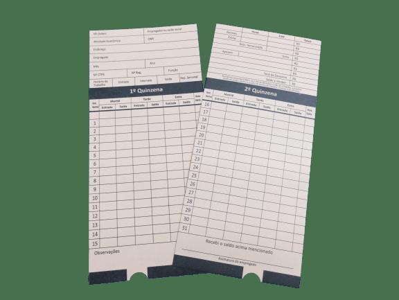 Cartão de Ponto Mensal com CNPJ p/ Henry DanitaGrafica - 100 unid